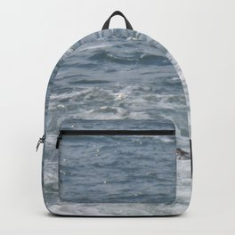 Waves Crashing on the Coast Backpack
