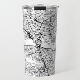 Stockholm White Map Travel Mug