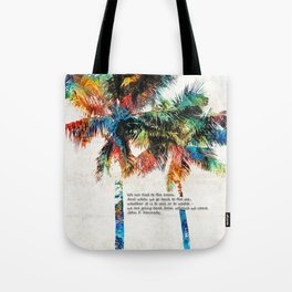 Colorful Palm Trees - Returning Home - By Sharon Cummings Tote Bag