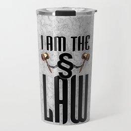 I am the law / 3D render of section sign holding judges gavels Travel Mug