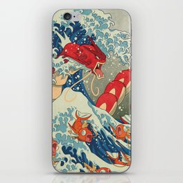 The Great Red Wave iPhone Skin