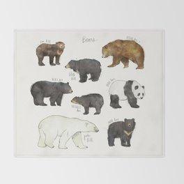 Bears Throw Blanket