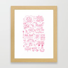 Obscenities Print Framed Art Print