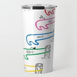 Cute! Original character of the rubber band Travel Mug
