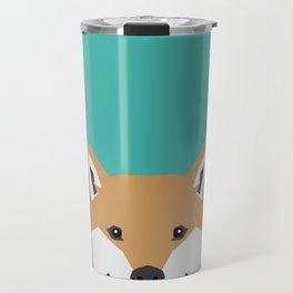 Shiba Inu dog head cute gifts for shiba inus lovers dog breed art Travel Mug
