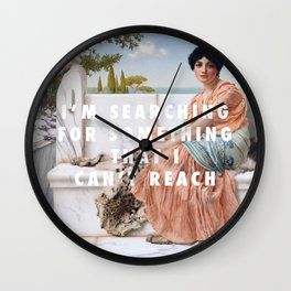John William Godward, In the Days of Sappho (1904) / Halsey, Ghost (2014) Wall Clock