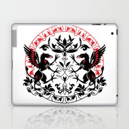 Mythical creature Griffin silhouette graphic art Laptop & iPad Skin