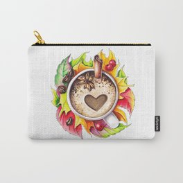 Fall and cup of coffee Carry-All Pouch