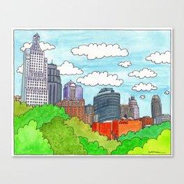 Kansas City Skyline I Canvas Print