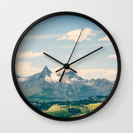 Going to the Mountains Wall Clock