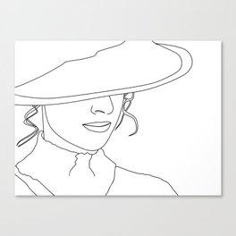LADYLIKE - MINIMAL LINE DRAWING OF A WOMAN Canvas Print