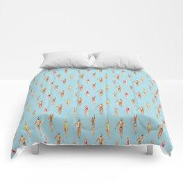 swimmer pattern Comforters