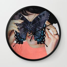 Morpho Butterfly Wall Clock