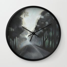 Road to town Wall Clock