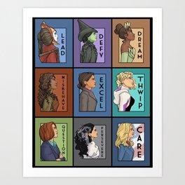 She Series Collage - Version 3 Art Print