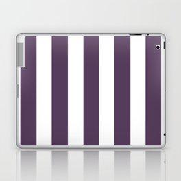 Old heliotrope violet - solid color - white vertical lines pattern Laptop & iPad Skin
