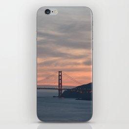 Golden Gate Bridge at Sunset iPhone Skin