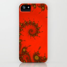 Red fractal. Abstract pattern iPhone Case