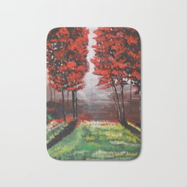 Red Tree Forest <3 Bath Mat