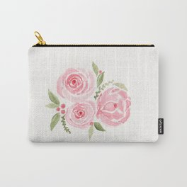 Christmas Rose-watercolor Carry-All Pouch
