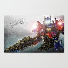Behold, Optimus Prime Canvas Print