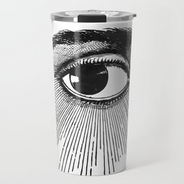 I See You. Black and White Travel Mug