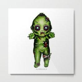 Zombie Kewpie Metal Print