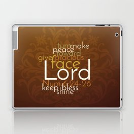 Christian Priestly Blessing Word Art on Damask Laptop & iPad Skin