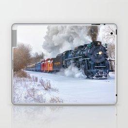 North Pole Express Train (Steam engine Pere Marquette 1225) Laptop & iPad Skin