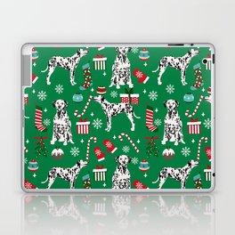 Dalmatian dog breed christmas holiday presents candy canes dalmatians dogs Laptop & iPad Skin