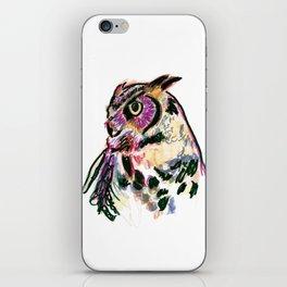 Owl Totem Print iPhone Skin