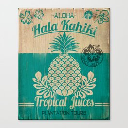 Hala Kahiki Juice Stand wooden board. Canvas Print