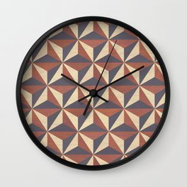 Cappuccino-Chocolate Art-Deco Pattern Wall Clock