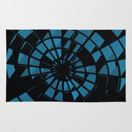 Abstract Dartboard Rug