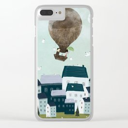 with the birds Clear iPhone Case