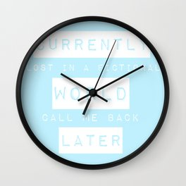 Lost in a Fictional World Wall Clock