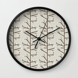 Spring is just around the corner - Fabric pattern Wall Clock