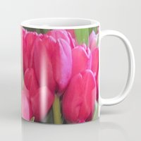 tulips Mugs featuring Tulips by lillianhibiscus