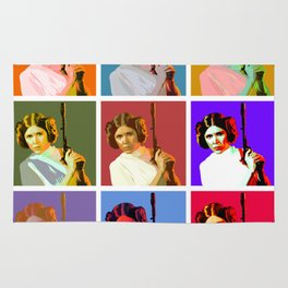 Popart Leia from Star Wars Episode 4 Rug