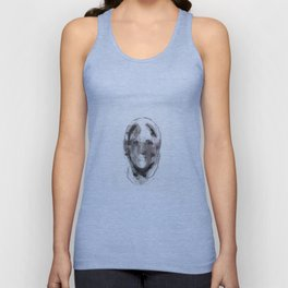 Woman With Head Wound Unisex Tank Top