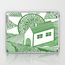 Welsh house of lines green Laptop & iPad Skin