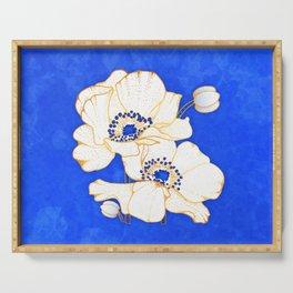 Ultramarine Blue :: Anemones Serving Tray