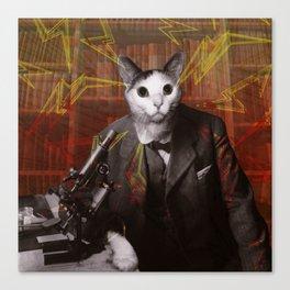 Science Cat Canvas Print