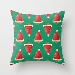 christmas strawberry Throw Pillow