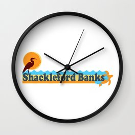 Shackleford Banks - North Carolina. Wall Clock