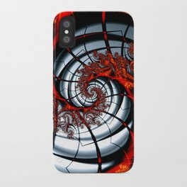 Fractal Art - Burning Web iPhone Case