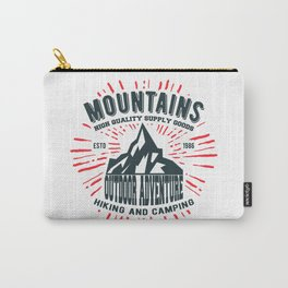 Mountains stamp print design Carry-All Pouch