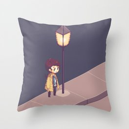 ill just wait here Throw Pillow