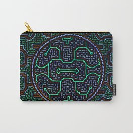 Song to protect the home - Traditional Shipibo Art - Indigenous Ayahuasca Patterns Carry-All Pouch