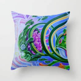 Spring Time By Adam France Throw Pillow
